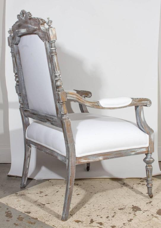 19th Century French Louis XVI Fauteuil Armchair Covered in Cotton ...