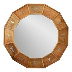 Musee D'Orsay Wooden Clock Design Wall Mirror