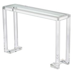 Ava Lucite Console Table with Glass Top