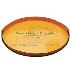 Veuve Clicquot Champagne Label Ovular Tole Tray