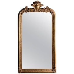 Philippe Hand-Carved Beveled Mirror in Hand Gilt Frame