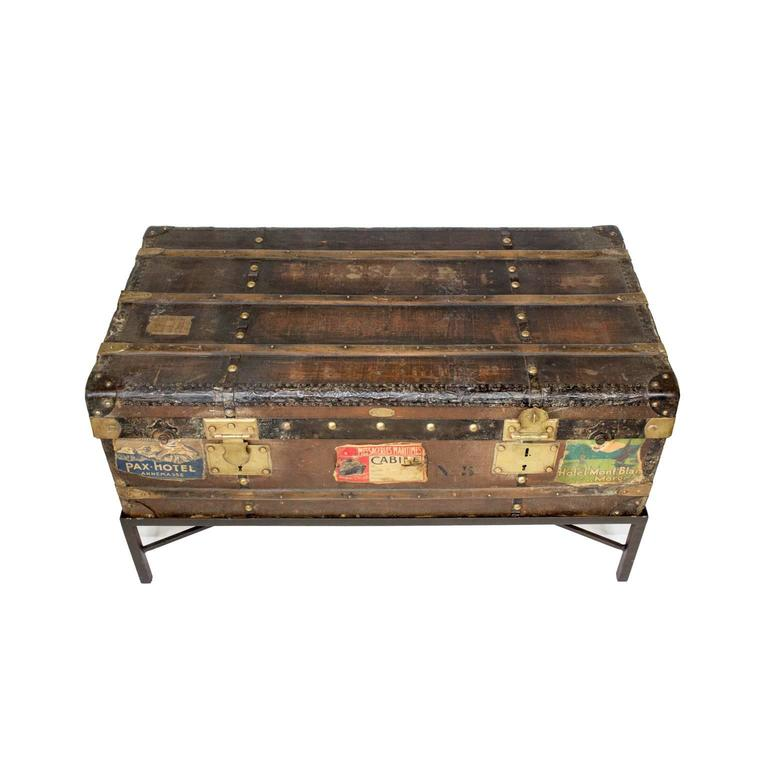 19th Century Au Depart French Trunk Coffee Table 2
