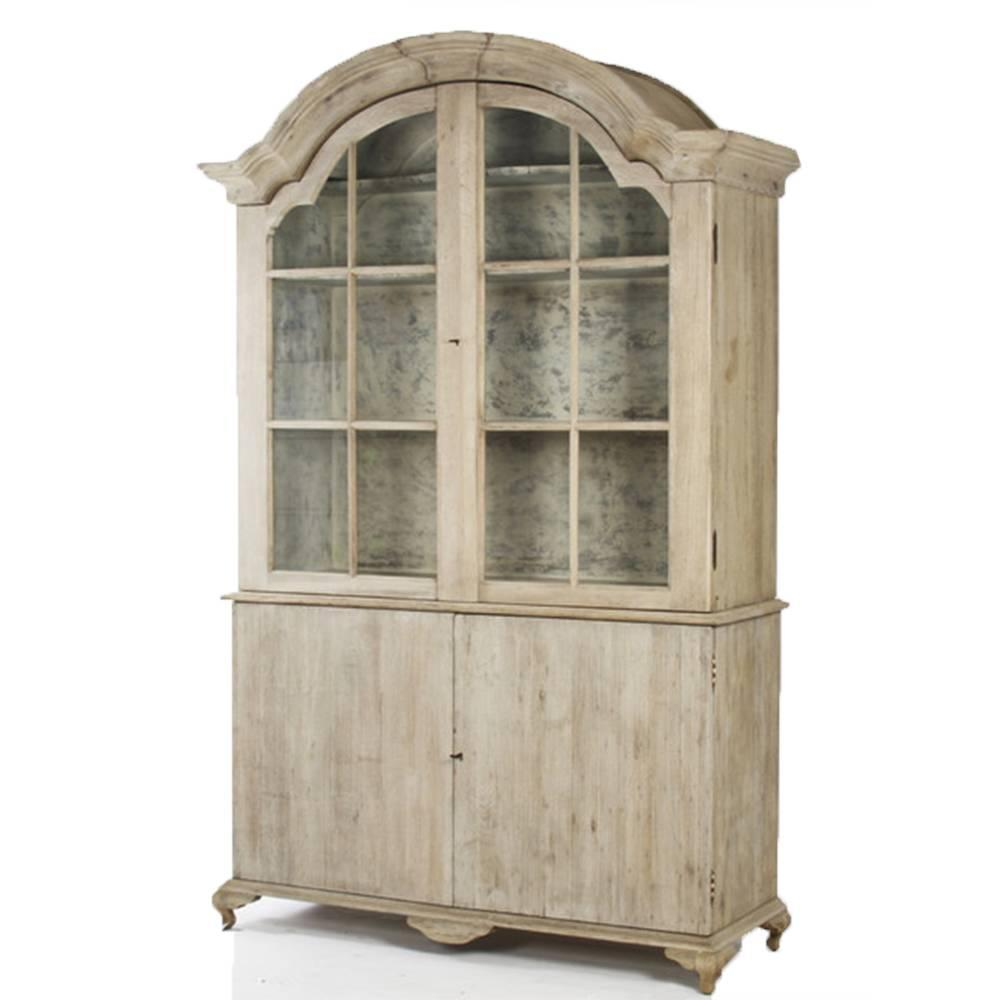 Distressed Kitchen Cabinet Doors: Large Distressed Hugh Cabinet W/ Glass Pane Doors For Sale