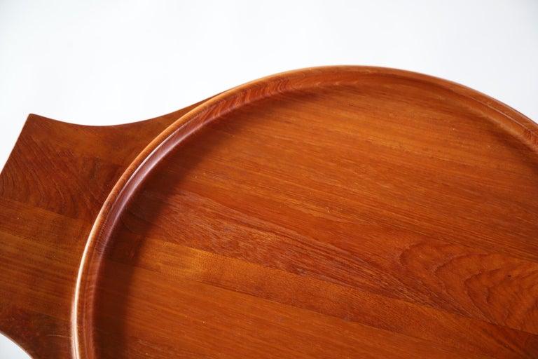 Amazing large teak serving tray by Jens Quistgaard for Dansk of Denmark.