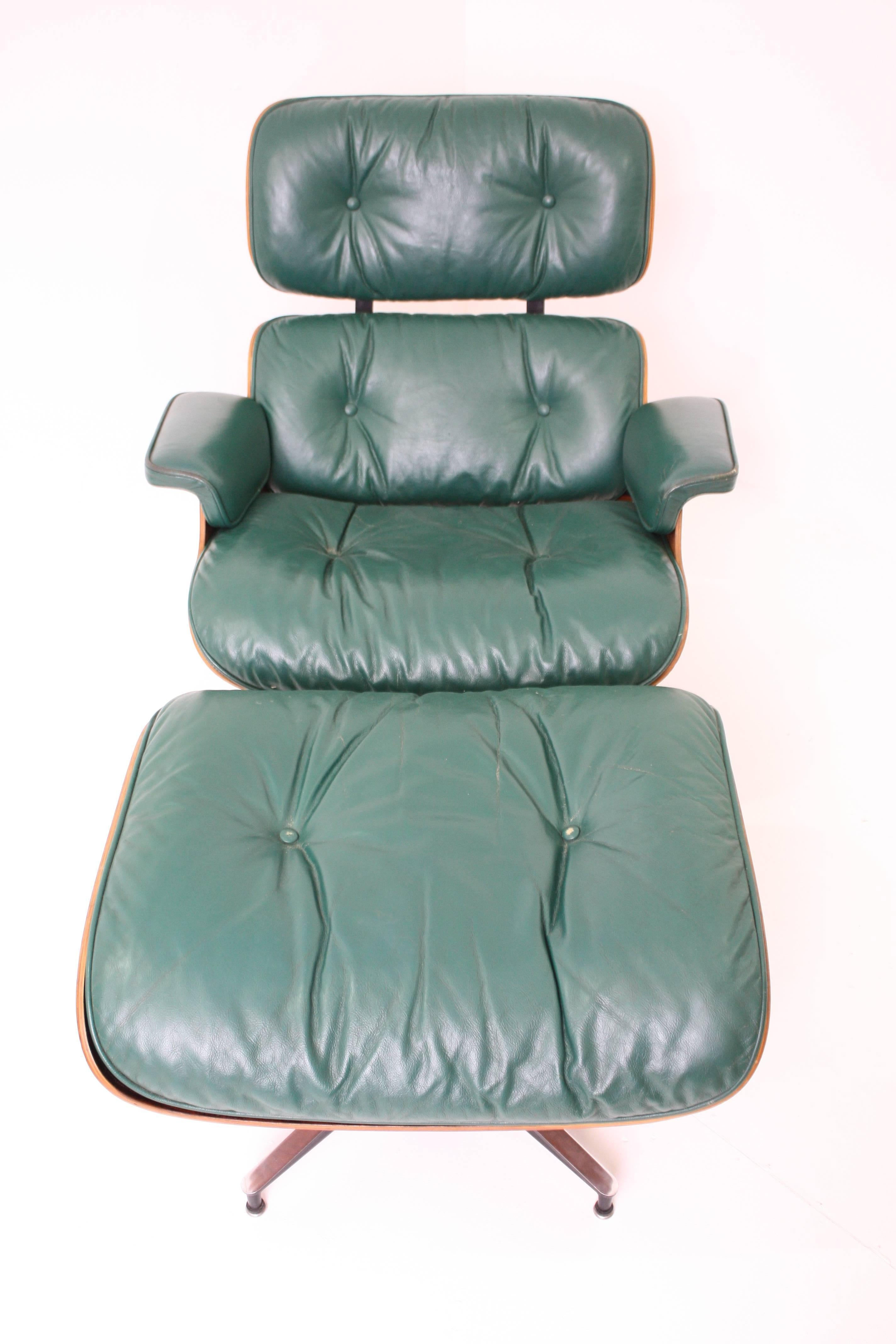 Rosewood Eames Lounge Chair and Ottoman for Herman Miller in Rare ...