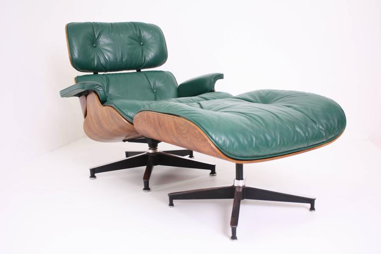 rosewood eames lounge chair and ottoman for herman miller in rare