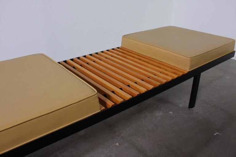 Mid-Century Modern Steel Contract Bench by George Nelson for Herman Miller For Sale
