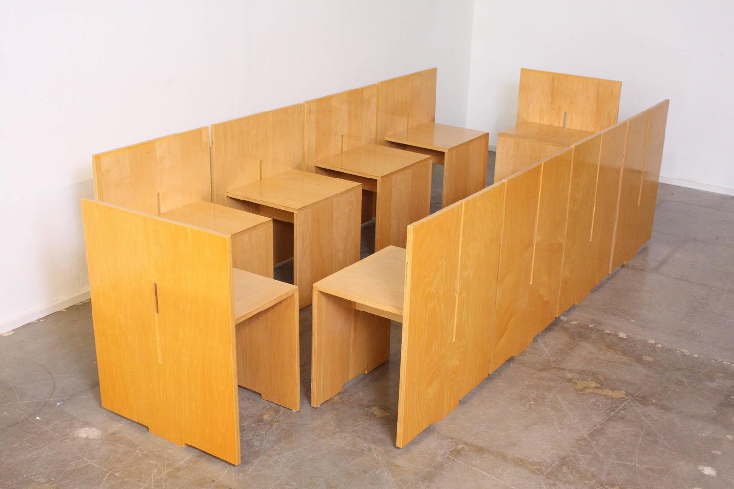 Architectural Dining Table And Ten Chairs In The Style Of