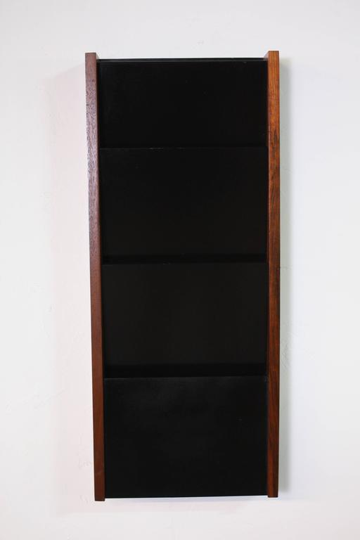 Hanging Book Rack peter pepper products wall hanging magazine rack at 1stdibs