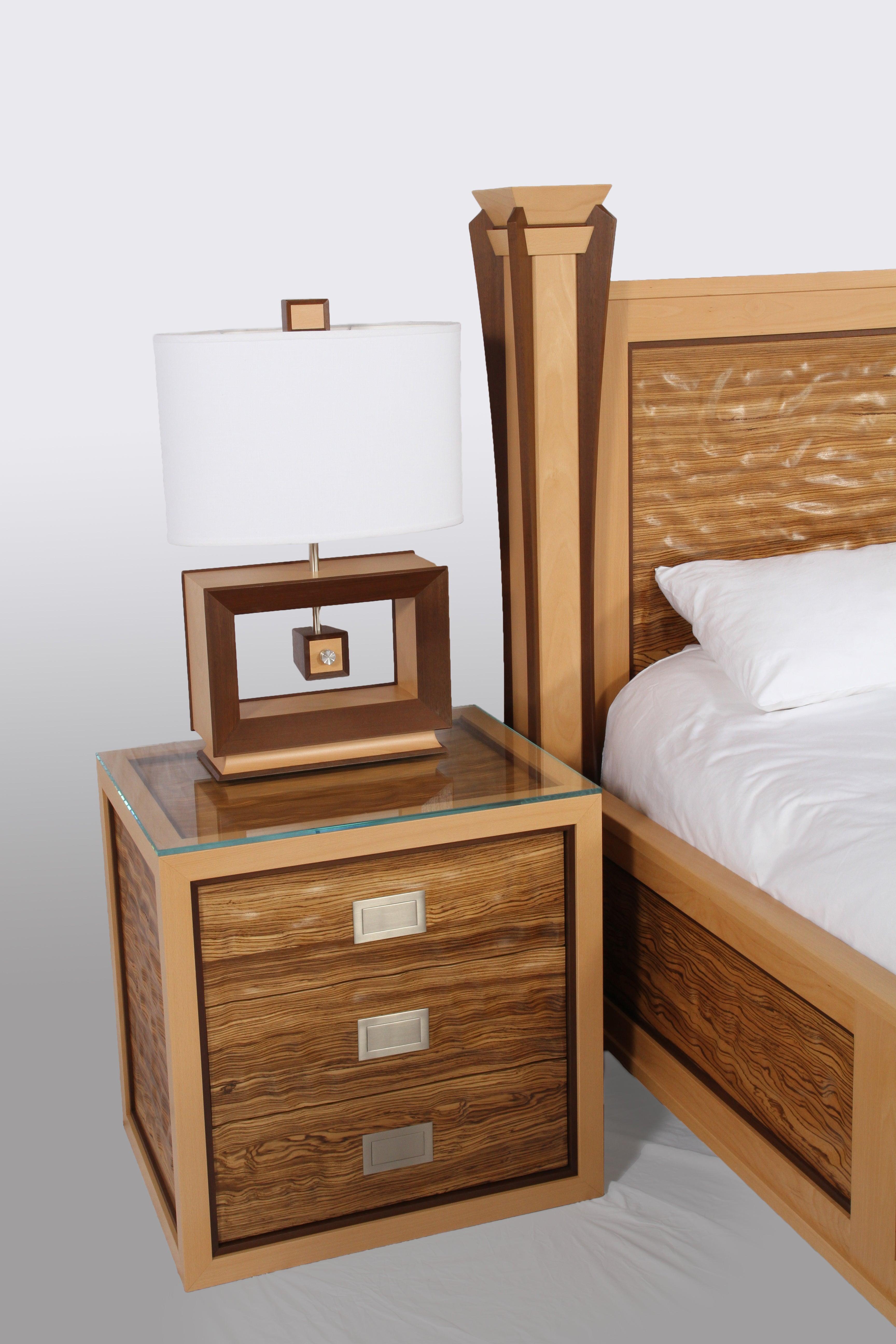 Custom Ambient Wave Bedroom Set In Zebrawood 2015 For Sale At 1stdibs