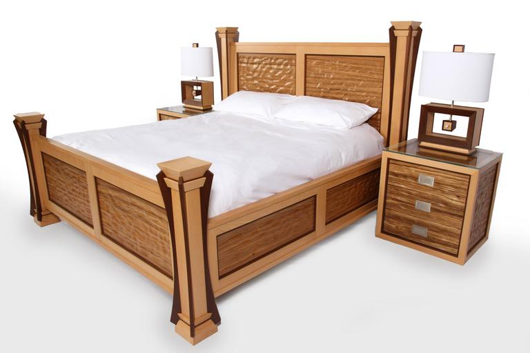 Custom Ambient Wave Bedroom Set In Zebrawood 2015 For Sale At 1stdibs
