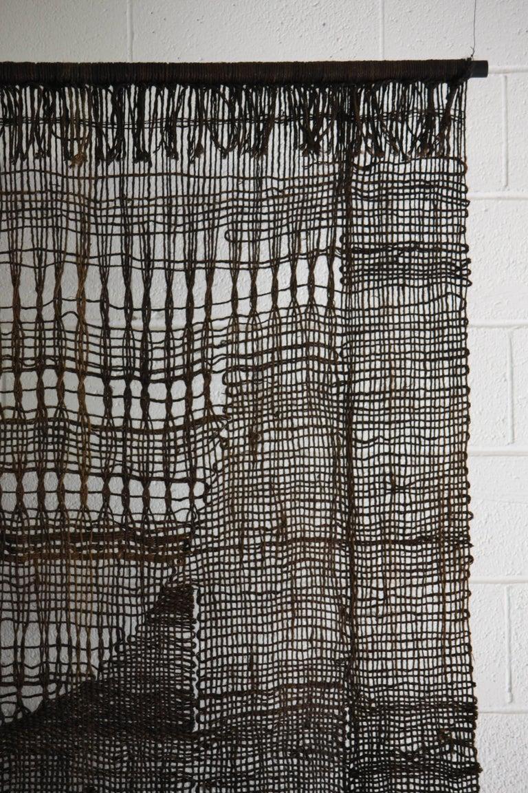 Large Off Loom Weaving Fiber Art Wall Hanging At 1stdibs