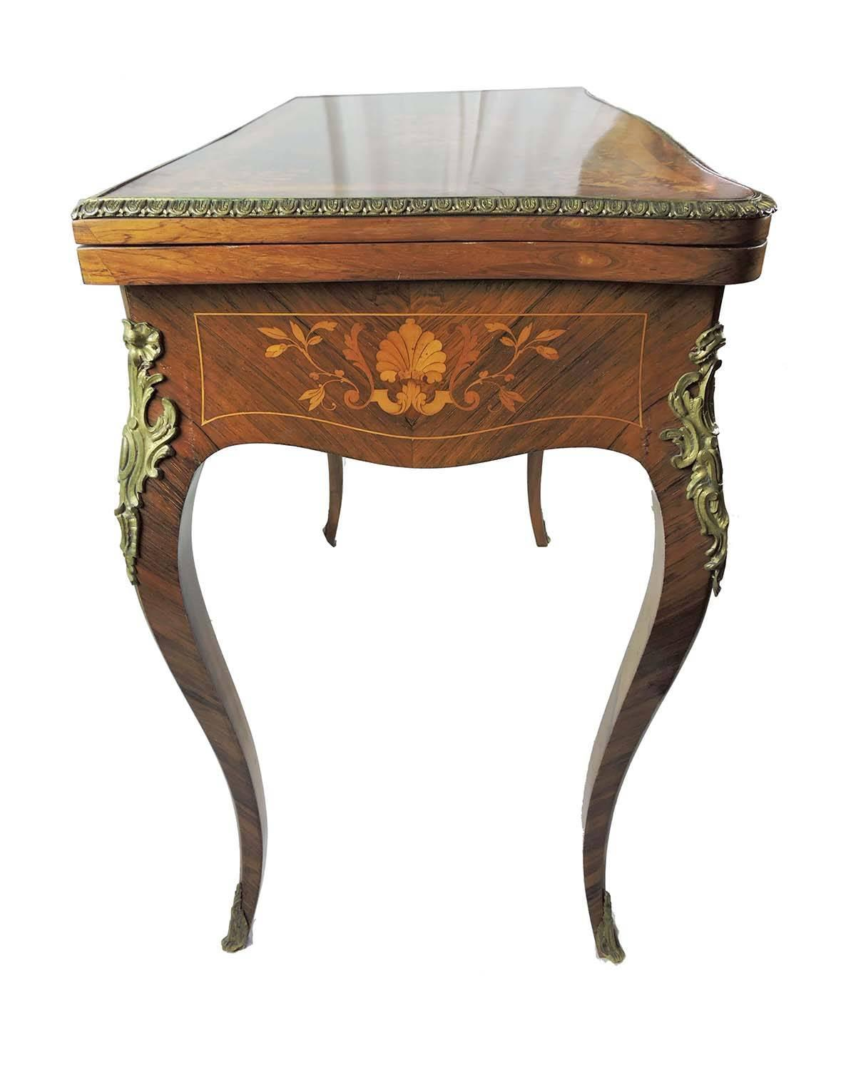 19th Century Louis Xv Style Marquetry Games Table With