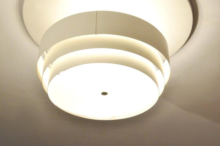 Danish White Metal Ceiling Lamp by Hans-Agne Jakobsson for Markaryd For Sale 2