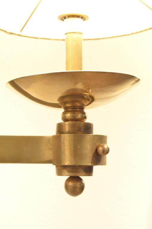 Art Deco Inspired Wall Sconces : Three Art Deco Rene Drouet Style Sculptural Full Brass Wall Sconces Lamps, Set For Sale at 1stdibs