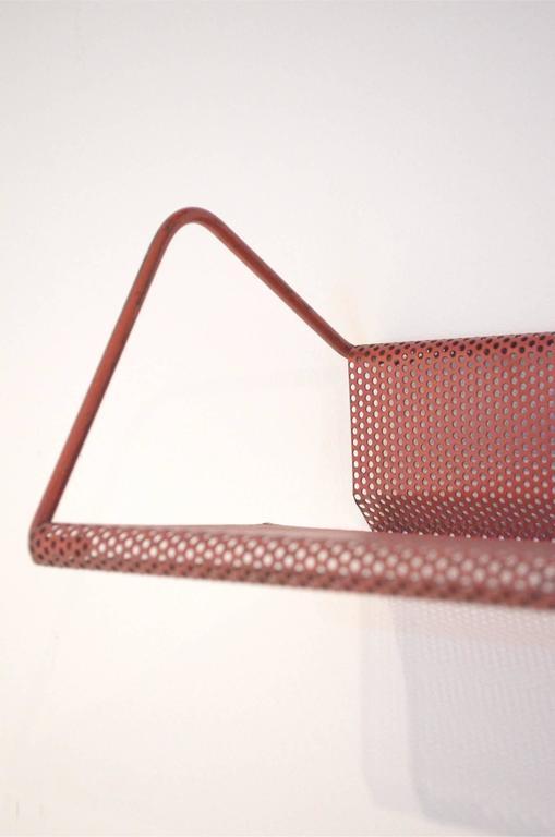 Nine Mid-Century Design Mathieu Matégot Tricolor Metal Bookshelves for Artimeta 10