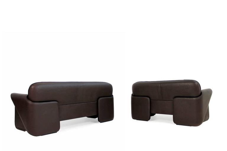 Exclusive de sede ds 125 leather sofa set by gerd lange for Exclusive sofa