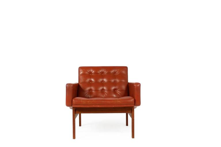 Mid-20th Century 1960s Danish Easy Chair by Ole Gjerlov-Knudsen & Torben Lind for CADO For Sale