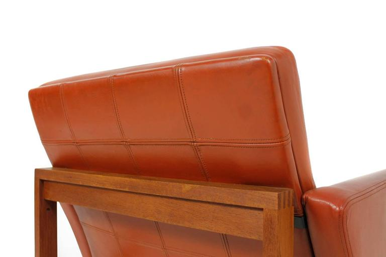 Leather 1960s Danish Easy Chair by Ole Gjerlov-Knudsen & Torben Lind for CADO For Sale