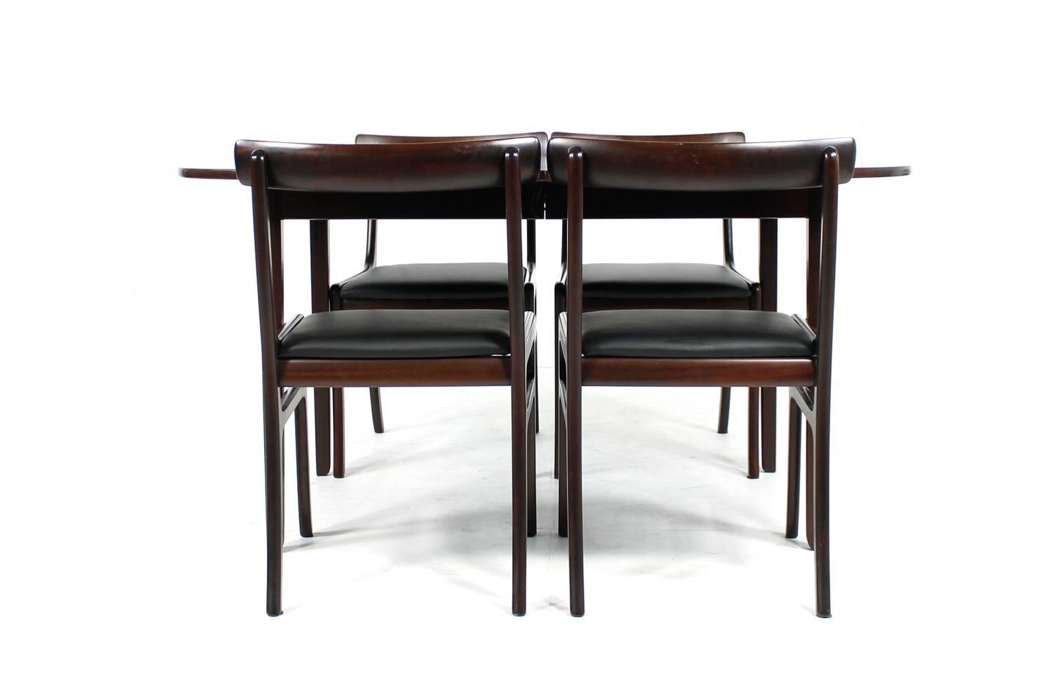 1960s ole wanscher dining room set rungstedlund table for Mahogany dining room furniture