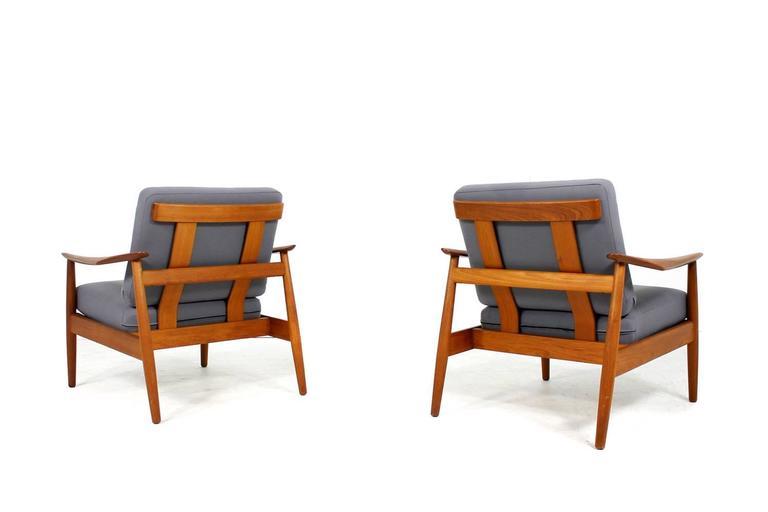 Mid-Century Modern Beautiful Pair of 1960s Arne Vodder Teak Easy Chairs Mod. 164, Danish Modern For Sale