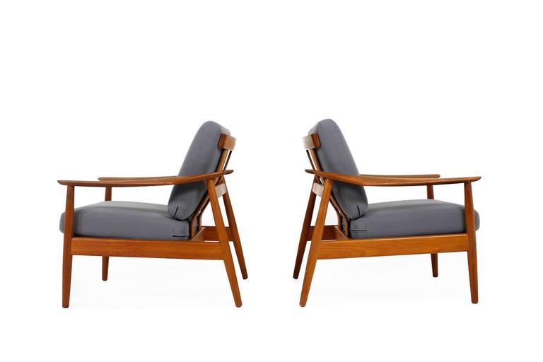 Mid-20th Century Beautiful Pair of 1960s Arne Vodder Teak Easy Chairs Mod. 164, Danish Modern For Sale