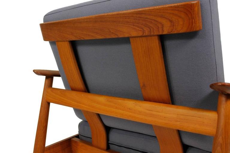 Fabric Beautiful Pair of 1960s Arne Vodder Teak Easy Chairs Mod. 164, Danish Modern For Sale