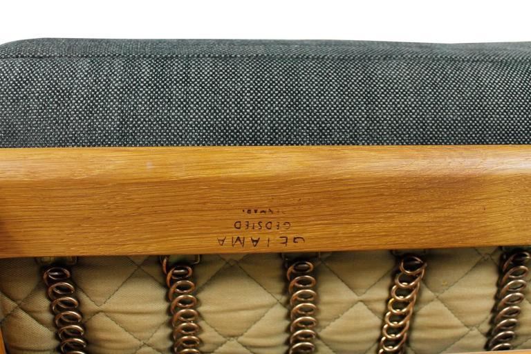 Hans J. Wegner Oak Sofa Mod. Ge 290 for Getama, 1960s Danish Modern Design For Sale 2