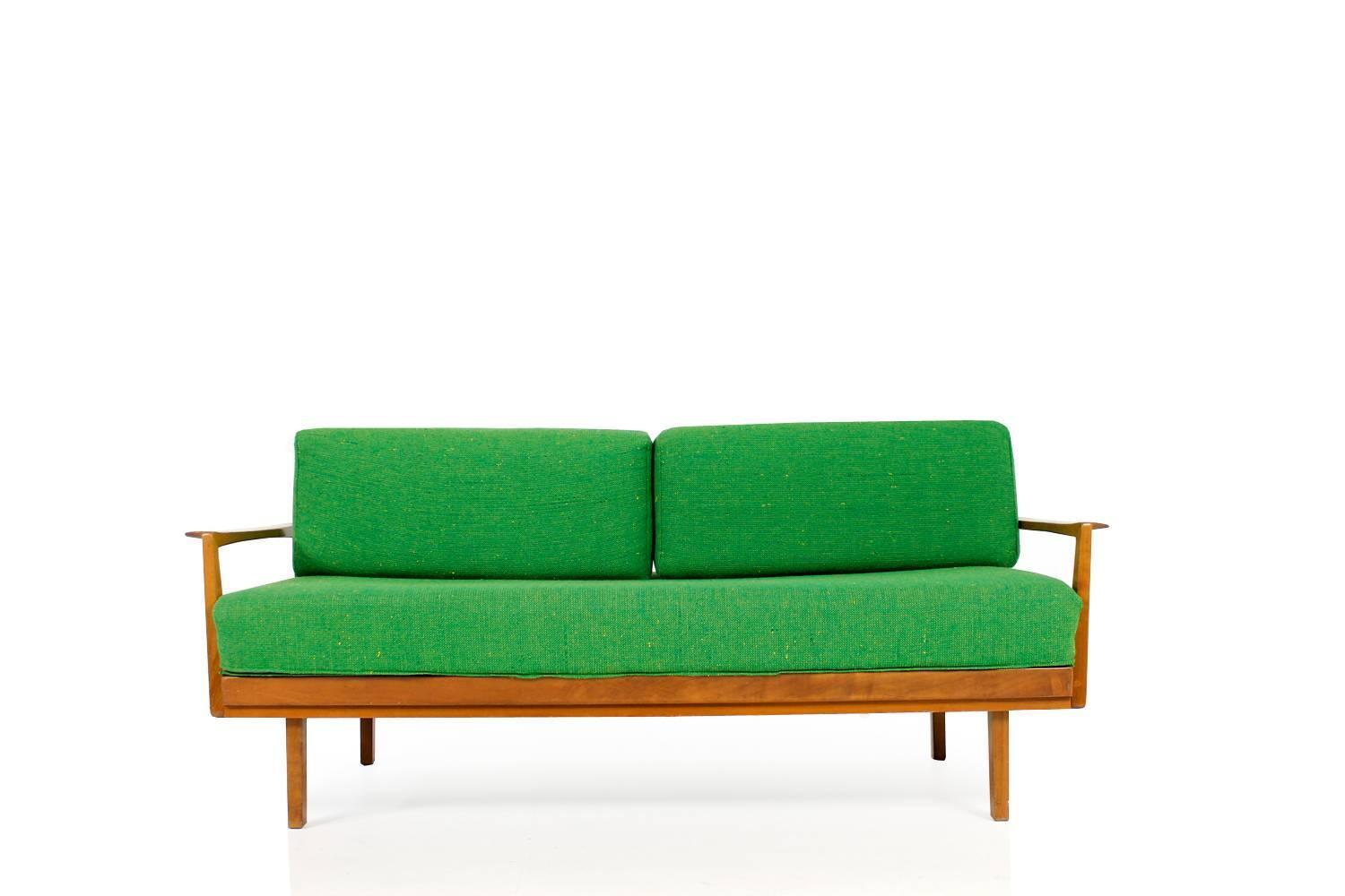 1950s Daybed Beechwood 39 Knoll Antimott 39 By Wilhelm Knoll Mid Century Modern At 1stdibs