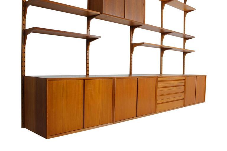 buy online f208c 32468 Royal System. Mid Modern Shelving System In Oak Model Royal ...