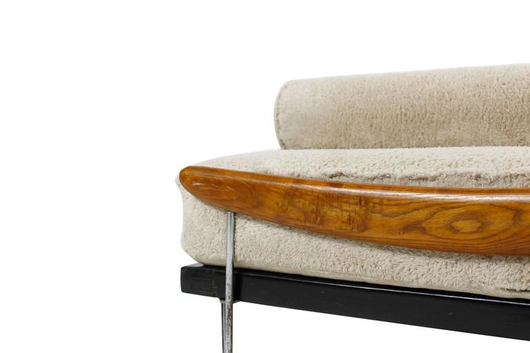 amazing midcentury daybed sofa by fred ruf 1950s with teddy bear fur upholstery 3 - Daybed Sofa