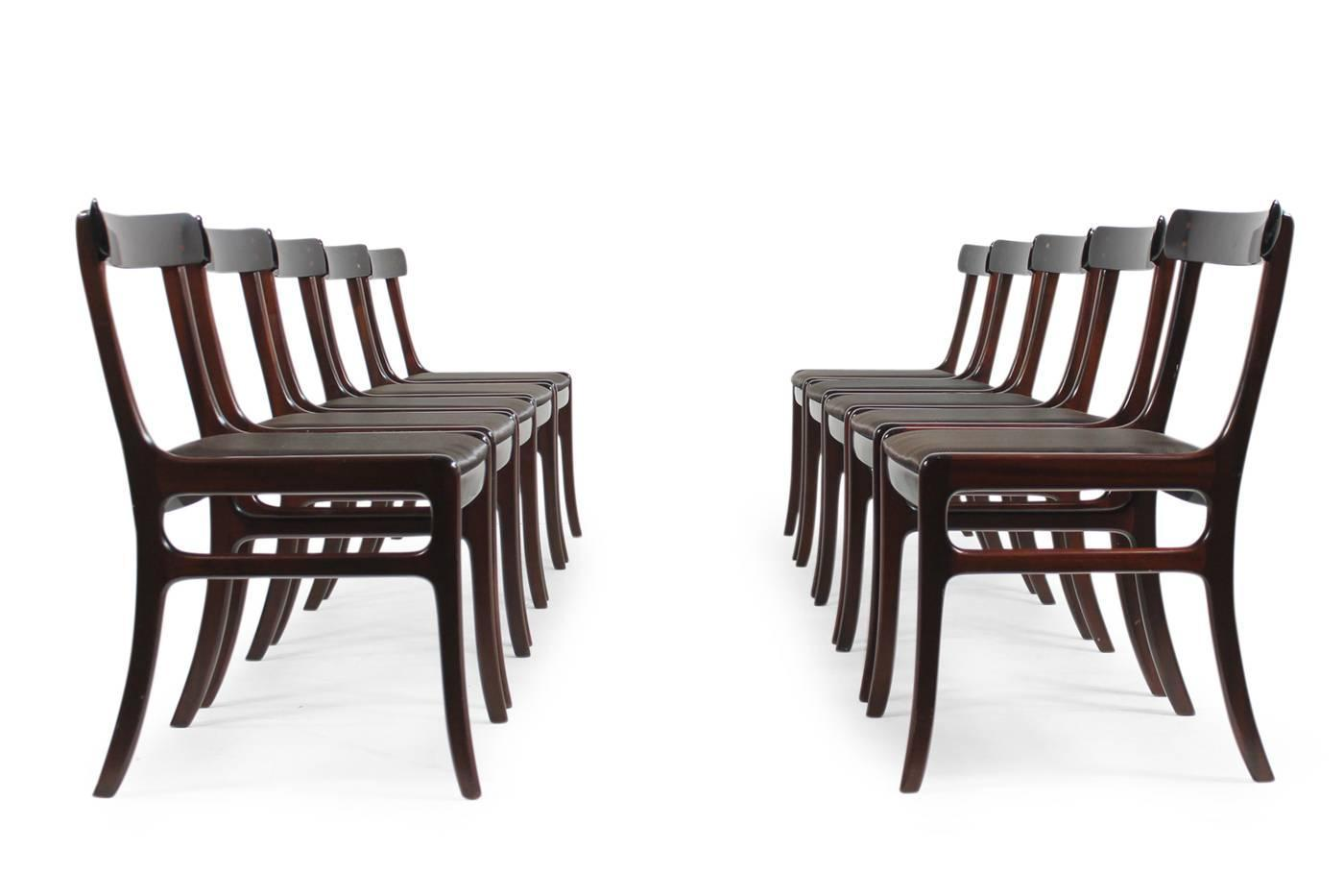 1960s Ole Wanscher PJ Dining Room Set Rungstedlund Table