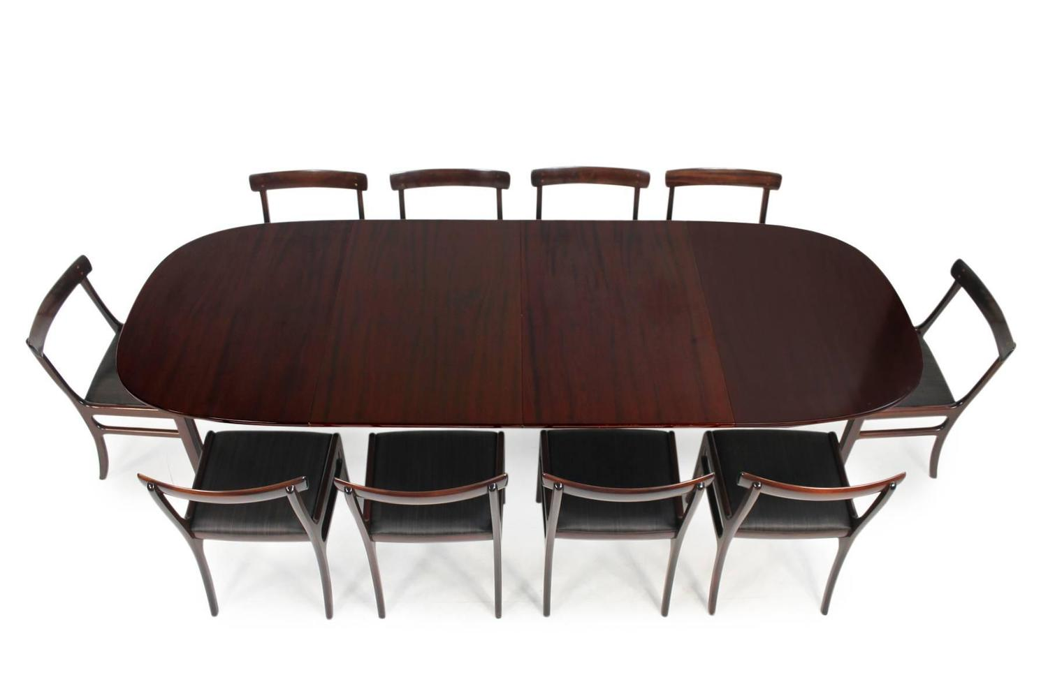 ole wanscher pj dining room set rungstedlund table and 10 chairs