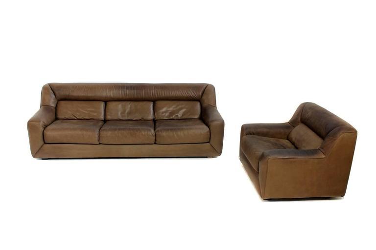 vintage 1970s de sede ds 43 cognac leather lounge sofa for. Black Bedroom Furniture Sets. Home Design Ideas