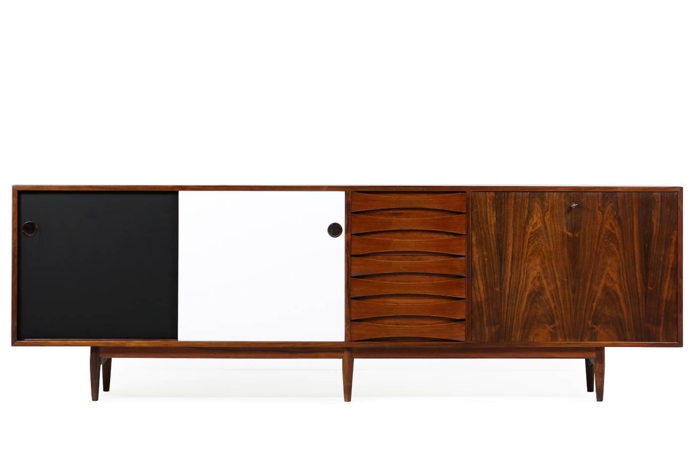 beautiful 1960s arne vodder rosewood sideboard mod 29a for sibast danish modern at 1stdibs. Black Bedroom Furniture Sets. Home Design Ideas