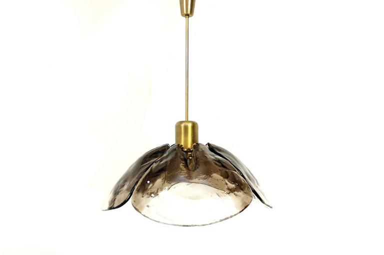 Beautiful Kalmar Chandelier, very good condition, brass & murano glass. For 1x Edison bulb E27 (included) Free shipping worldwide!