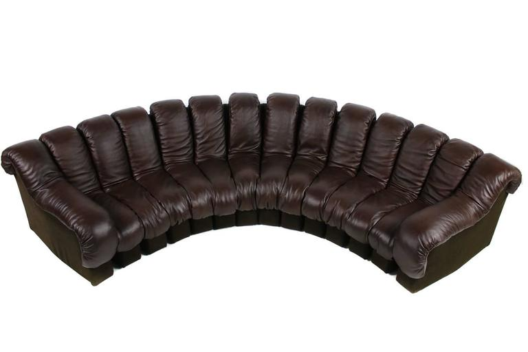 Late 20th Century Beautiful 1970s Dark-Brown De Sede DS 600 Lounge Leather Sofa Ueli Berger For Sale