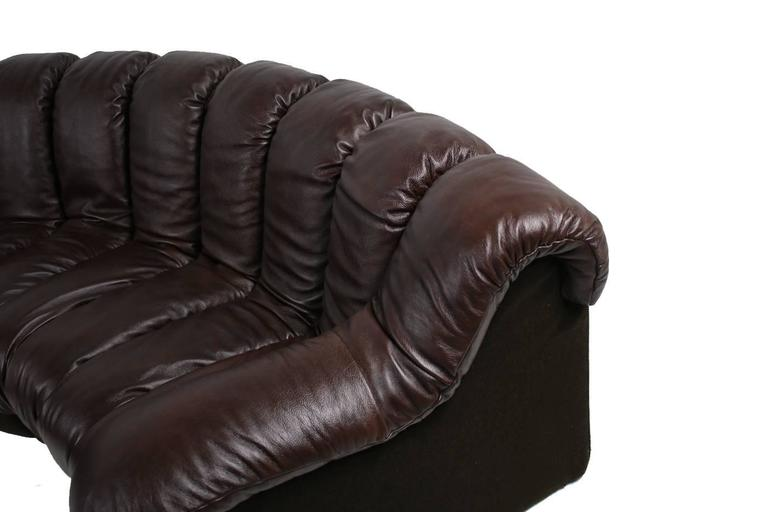 Beautiful 1970s Dark-Brown De Sede DS 600 Lounge Leather Sofa Ueli Berger In Good Condition For Sale In Hamminkeln, DE