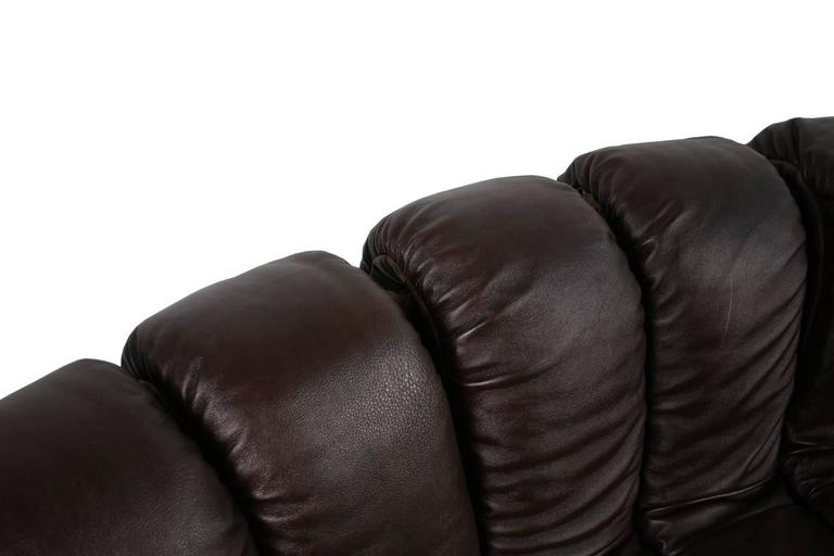 Beautiful 1970s Dark-Brown De Sede DS 600 Lounge Leather Sofa Ueli Berger For Sale 2