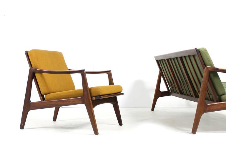 Beautiful 1960s Sofa And Easy Chair Teak Danish Mid Century Modern Seating Group In Excellent