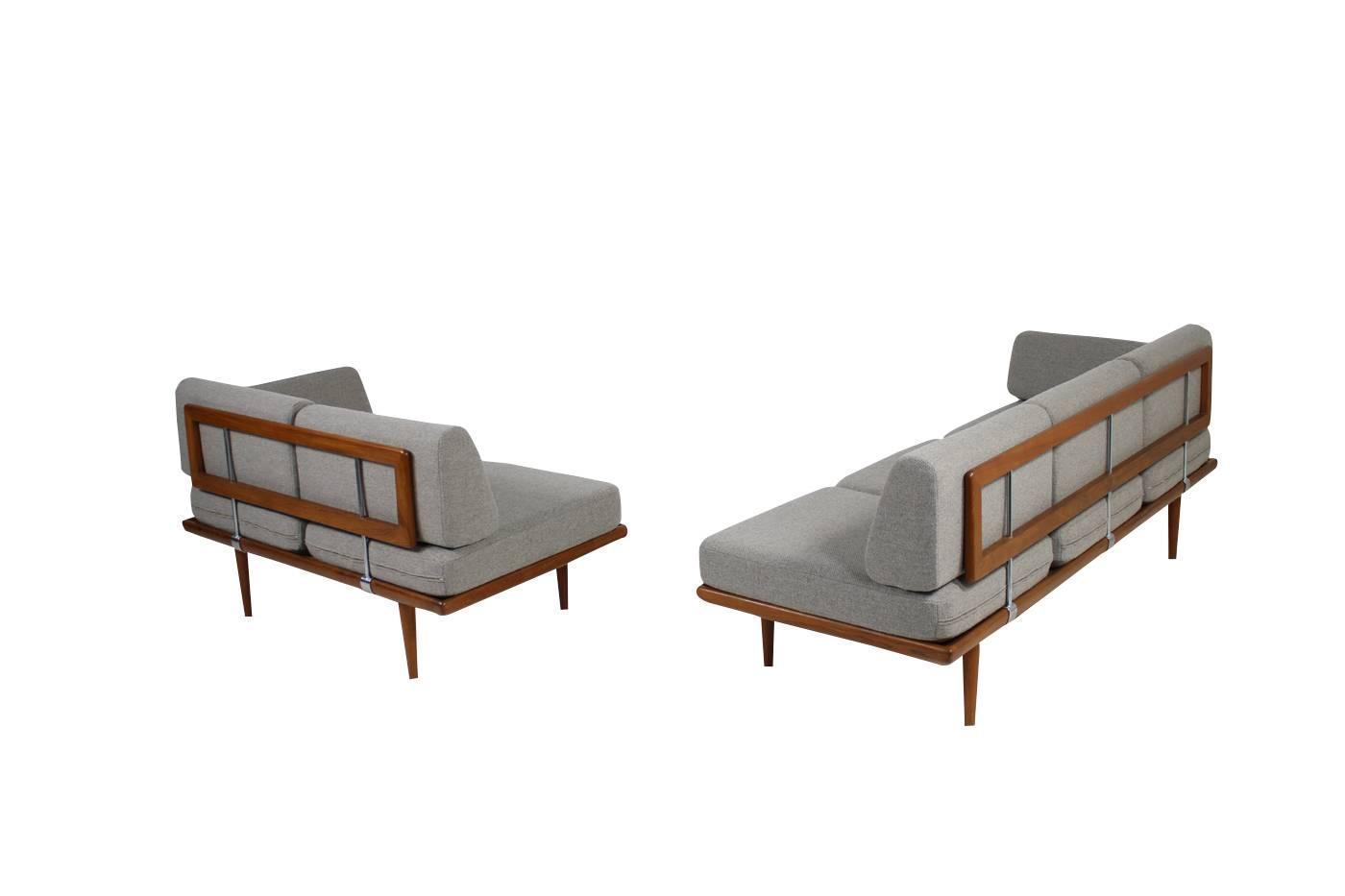 Beautiful Sofa Sets : Beautiful 1960s Teak Daybed Sofa Set Peter Hvidt Minerva Danish Modern ...