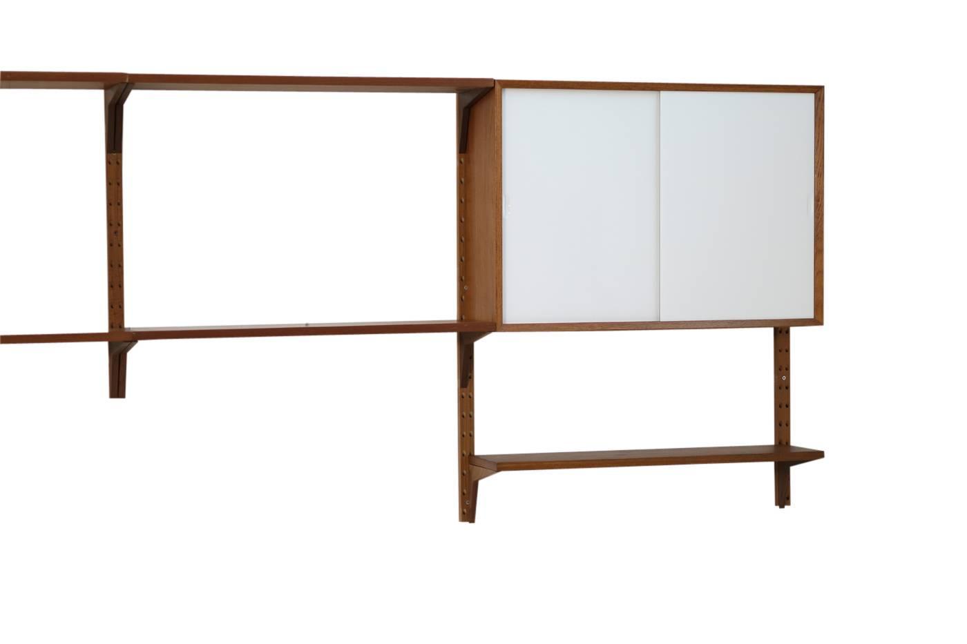 1960s poul cadovius teak wall unit by cado mid century. Black Bedroom Furniture Sets. Home Design Ideas