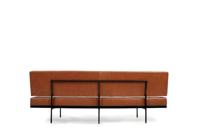 beautiful 1960s florence knoll custom daybed sofa cognac leather midcentury 3 - Daybed Sofa