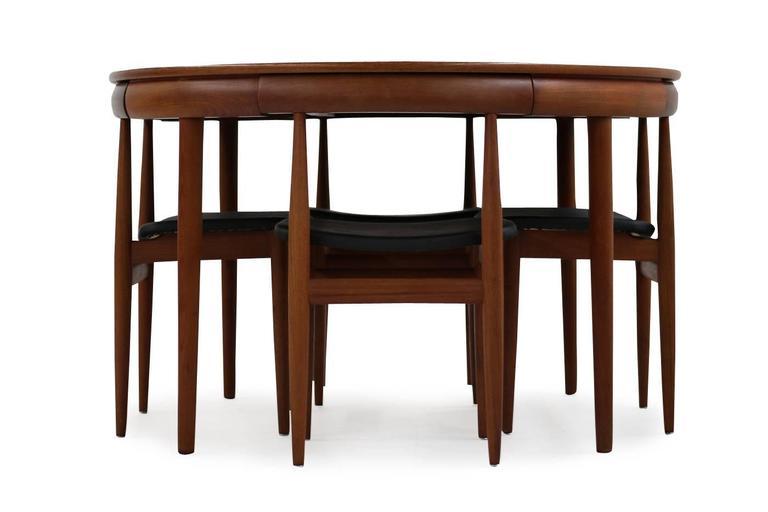 Beutiful And Rare Hans Olsen Teak Dining Set, Frem Rojle, Denmark.  Extendable Teak