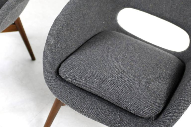 Beautiful Pair of 1960s Miroslav Navratil Lounge Chairs, New Upholstery For Sale 1