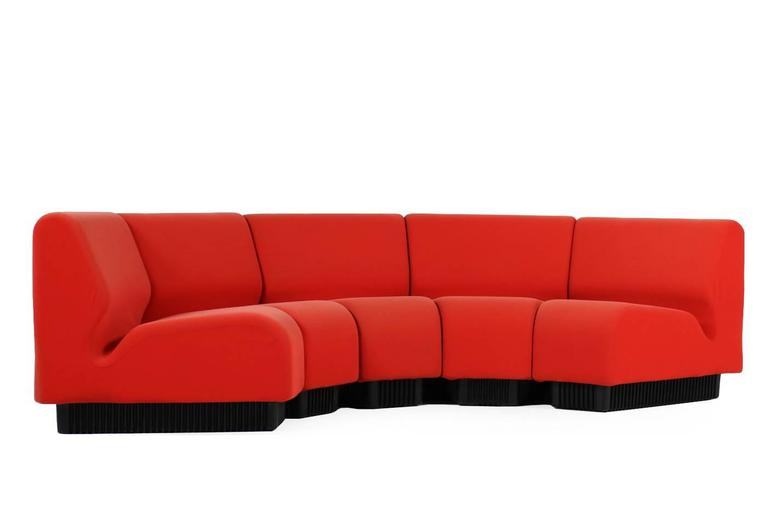 Beautiful 1970s Don Chadwick Sofa In Red, For Herman Miller. Fantastic,  Authentic Condition