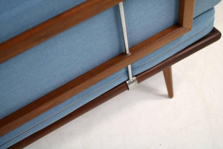 Mid-20th Century Danish Modern 1960s Daybed by Peter Hvidt & Orla Mølgaard Nielsen Teak Sofa For Sale
