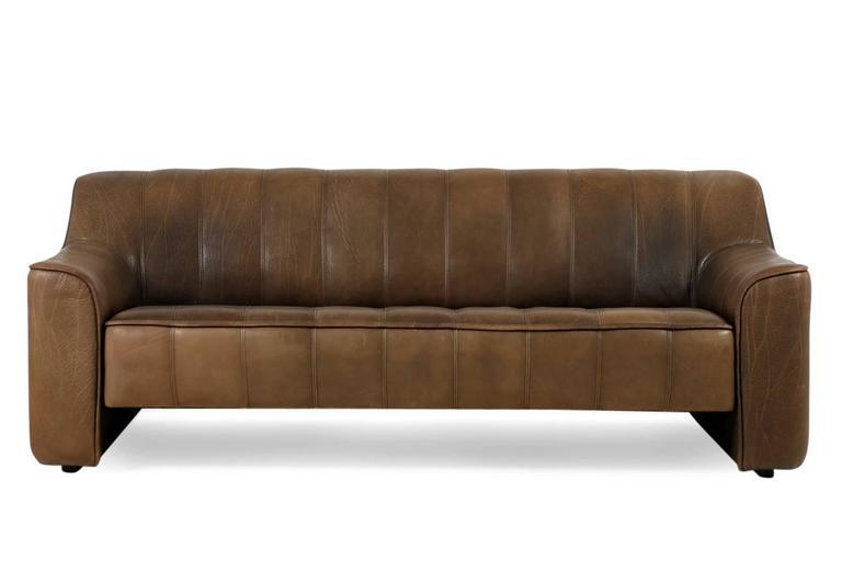 Beautiful 1970s De Sede Ds 44 Sofa Set Brown Dark Cognac