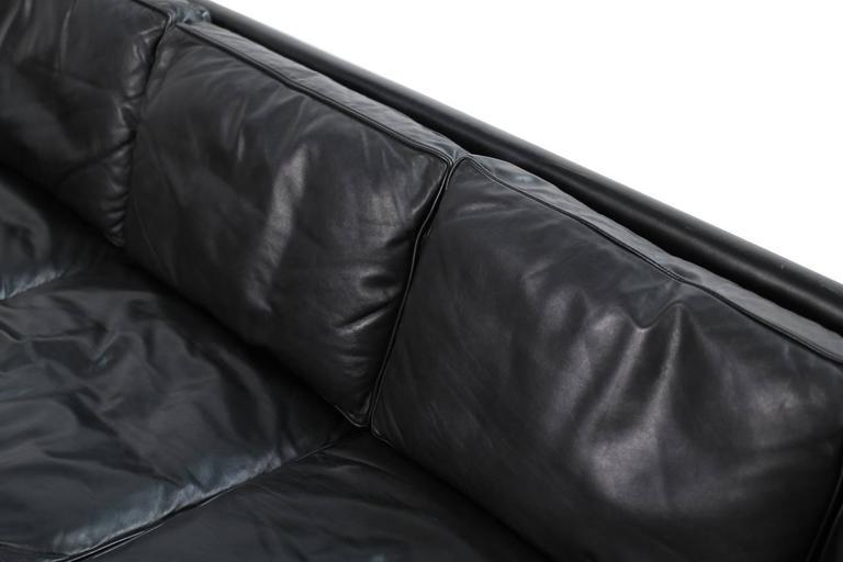 1960s George Nelson Loose Cushion Four Seat Leather Sofa