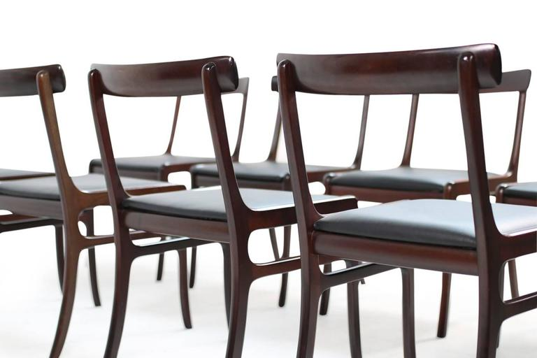 Leather 1960s Ole Wanscher Pj Dining Room Set